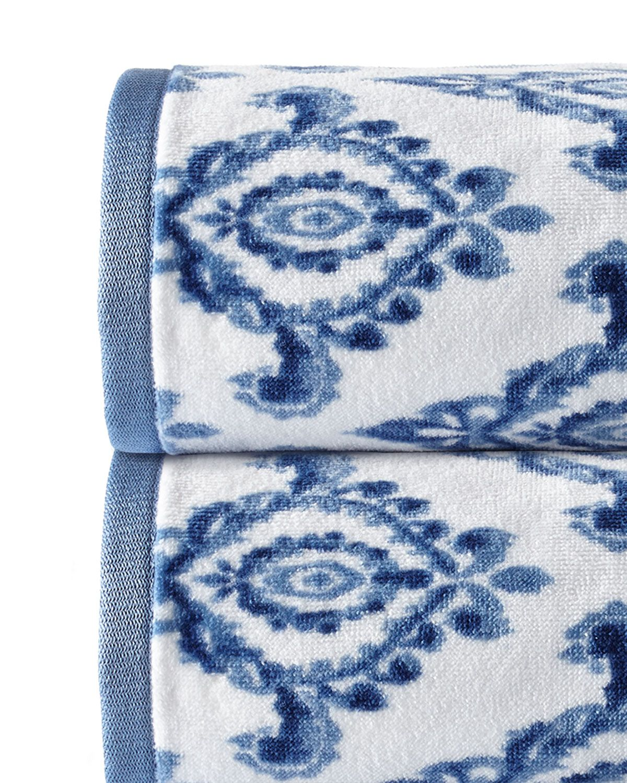 Dena Home Madison Face Towel Bath Towels Towel Navy Blue Bathrooms