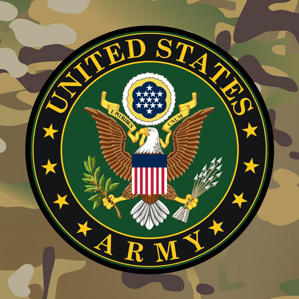 U S Army Emblem On Acu Camouflage Military Logo United States Army Army Medic