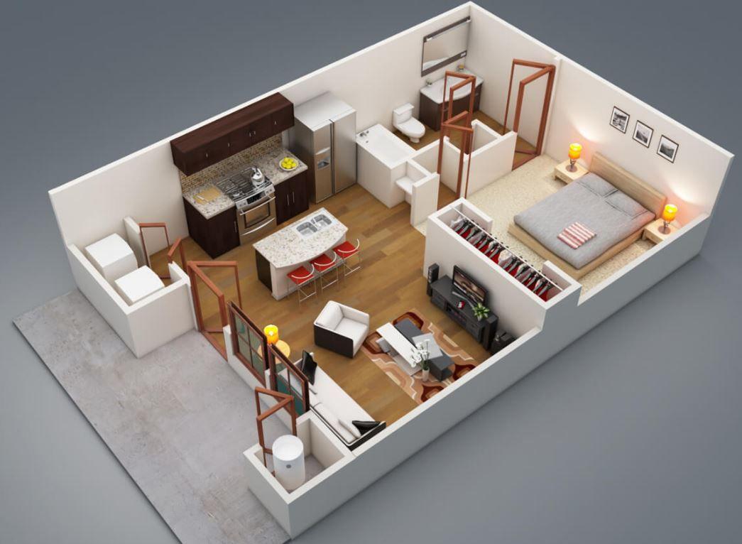 Plano de casa de 8 x 9 metros planos casas pinterest for Modelo de casa 7 x 10