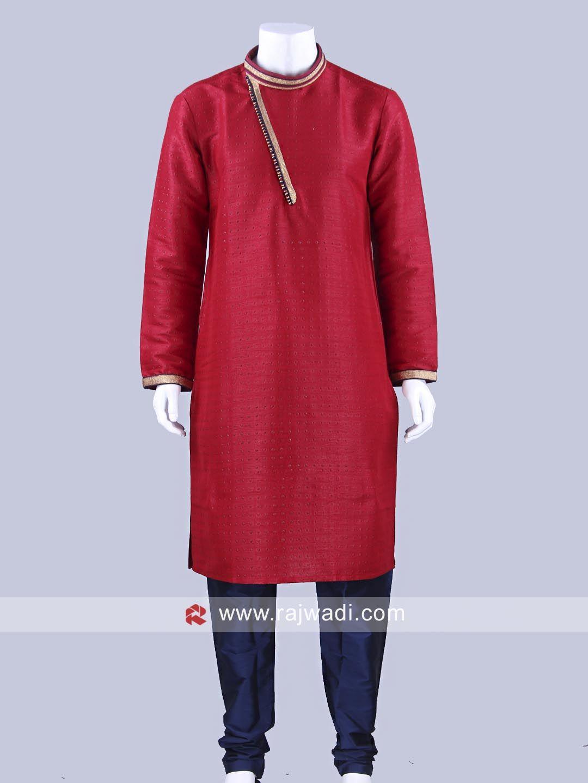 Dark red party wear kurta pajama rajwadi kurtapajama classic
