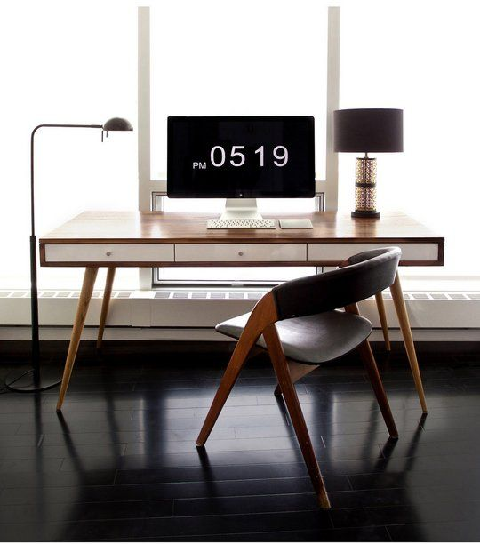 Genial Ernethons Minimal Mid Century Office Final Frame   I Love This Office Setup