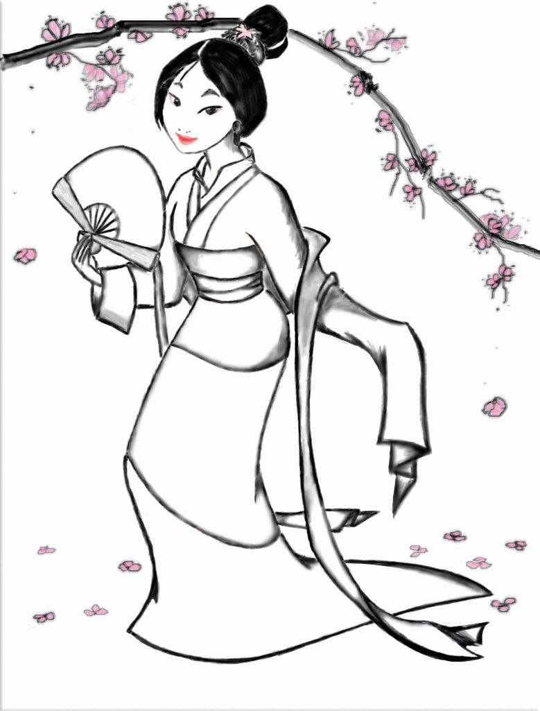Mulan Coloring Page By Myaime On Deviantart Disney Princess