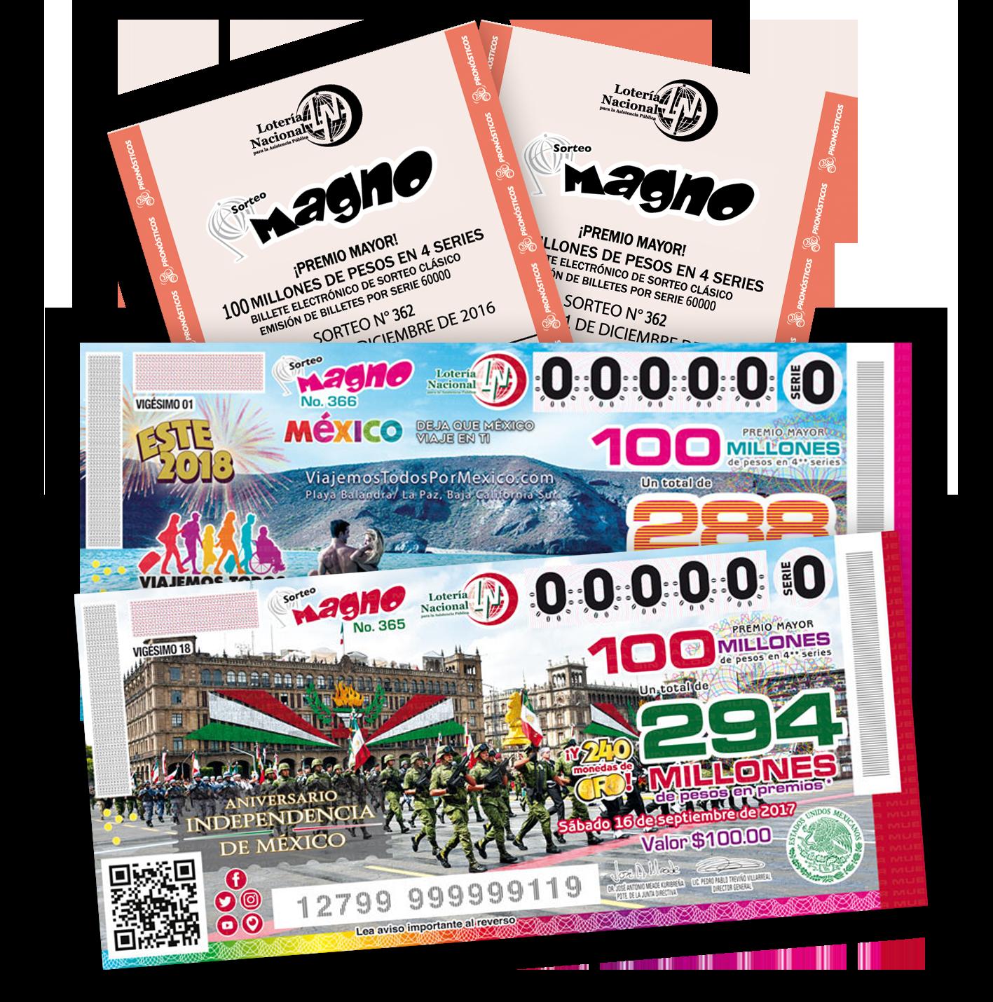 Billetes Sorteo Magno Lotería Nacional Sorteo Lotería