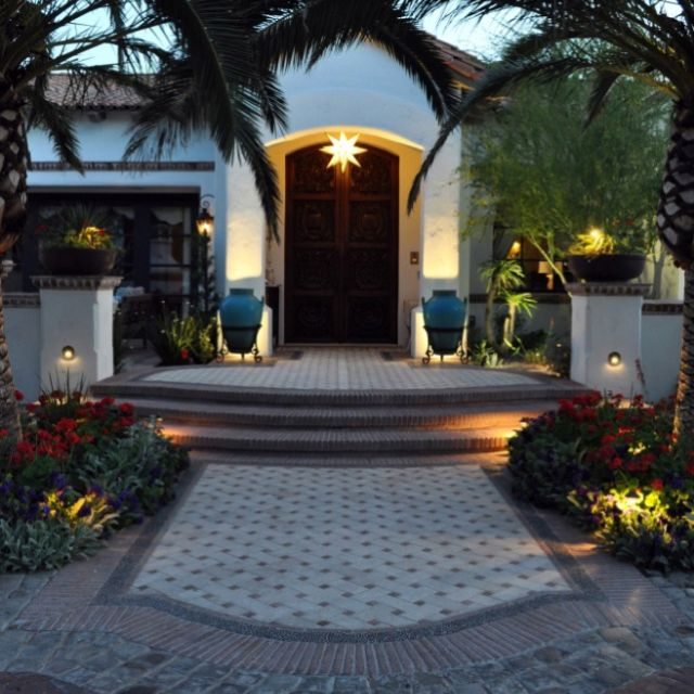 Houzz - Pretty Front Entry, Love The Hardscape