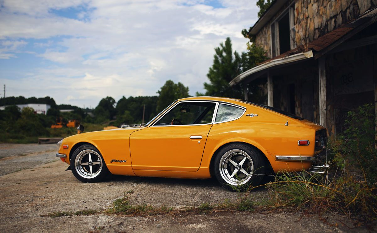 """My friend called me, saying """"You have to buy this car."""" We drove about two hours up the road at 9pm. When I first saw it, I liked the uniqueness of the color and the fact that it was a first-year 240Z. The guy I bought it from was actually the original owner. The Datsun had 69,000 miles and was bone stock, I've done everything to this car minus painting it."""