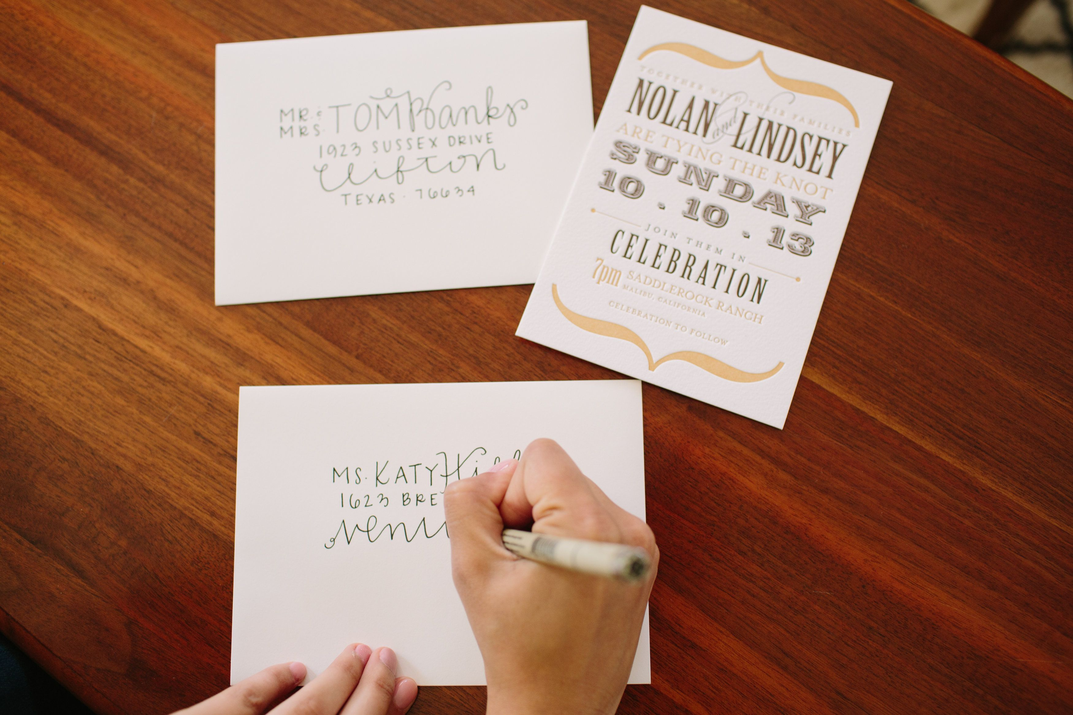 DIY Wedding Envelope Addressing Tips Fun wedding