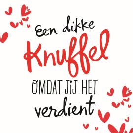 Liefde kaart - Vriendschapskaart - een-dikke-knuffel-omdat-jij-het ...