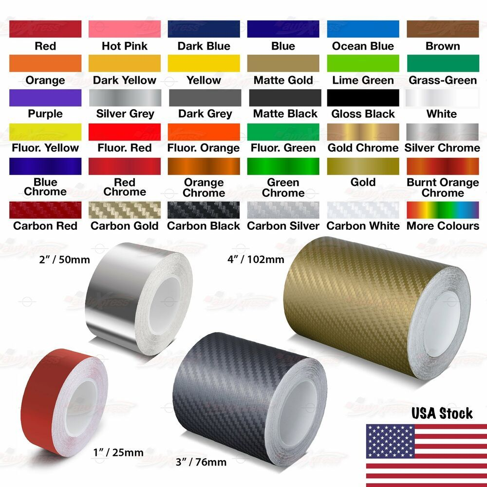 1 2 3 4 Roll Vinyl Pinstriping Pin Stripe Solid Line Car Tape Decal Stickers Unbrandedgeneric Car Stripes Vinyl Car Stickers Car Decals Vinyl