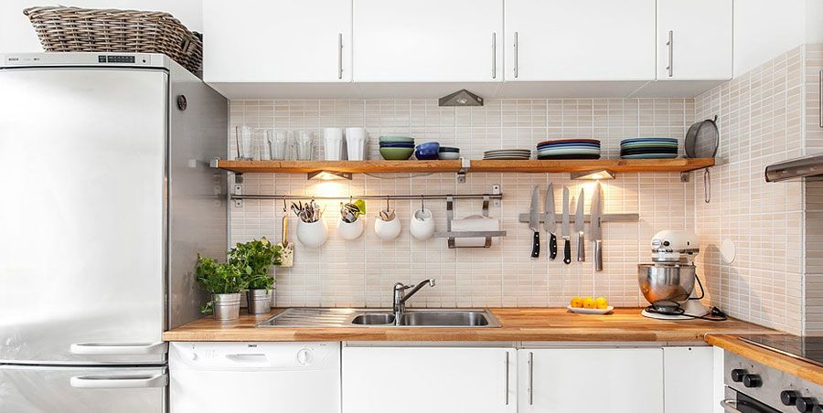 Swedish Style Interior Decorated With Ikea Furniture And Swedish Kitchen Country Kitchen Designs Kitchen Design