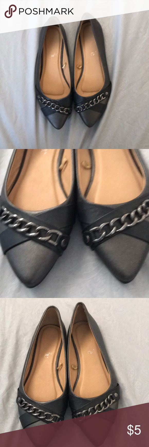 Flat pewter colored dress shoes | Dress