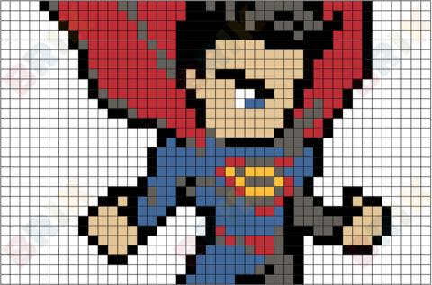 Superman Symbol Pixel Art