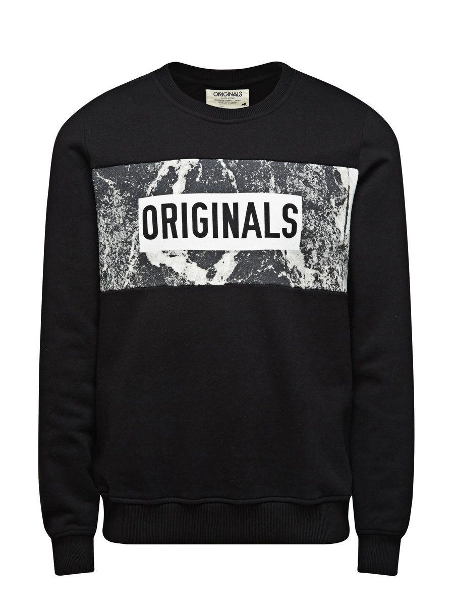 Sweat Crew Neck Sweatshirt Jack Jones Sweatshirts Sweatshirt Shirt Streetwear Tshirt [ 1200 x 900 Pixel ]