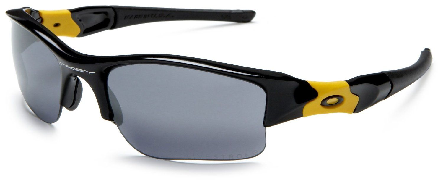 2ffb05e77e19 Oakley Livestrong Flak Jacket XLJ oo9009 12-791 Sunglasses: Oakley:  Amazon.co.uk: Clothing