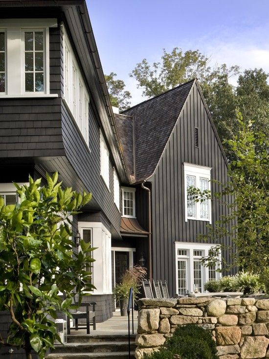 Board And Batten Siding Design, Pictures, Remodel, Decor And Ideas   Page 5  · Black ExteriorExterior ColorsExterior Paint ...