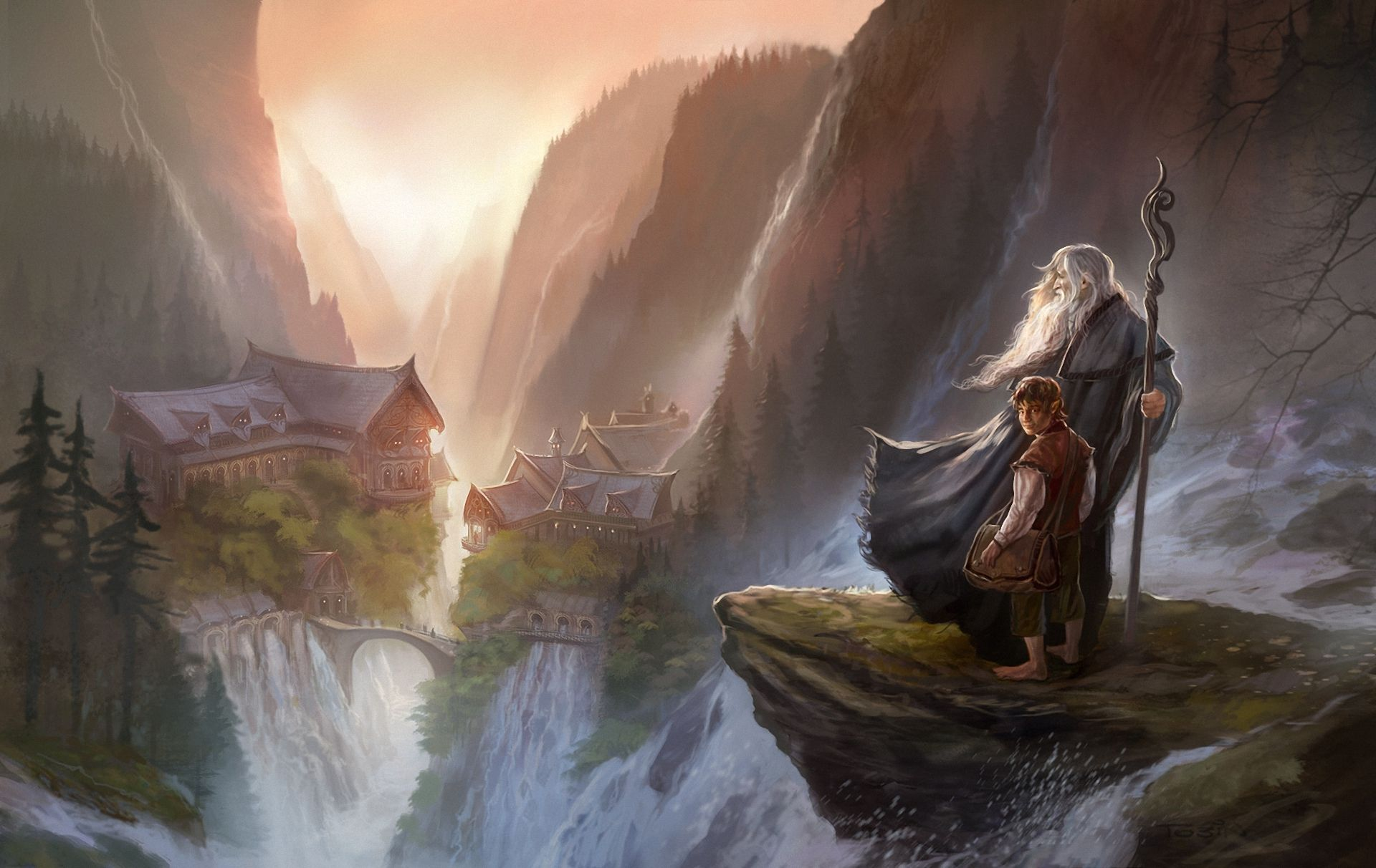 Обои властилин колец, John howe, gandalfs return. Фантастика foto 8