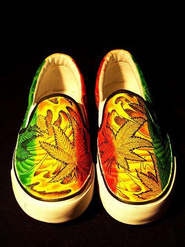 Shoes cute stoner rasta De Inspiración trippy Rasta Estilo 6Aqp4gdw