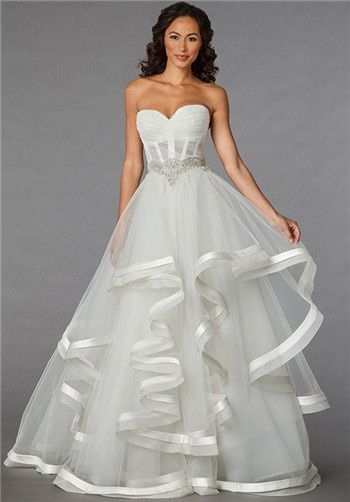34c9640c19a Pnina Tornai for Kleinfeld - 4310 Pnina Tornai Sweetheart Princess Ball Gown  Wedding Dress with Empire Waist in Organza. Bridal