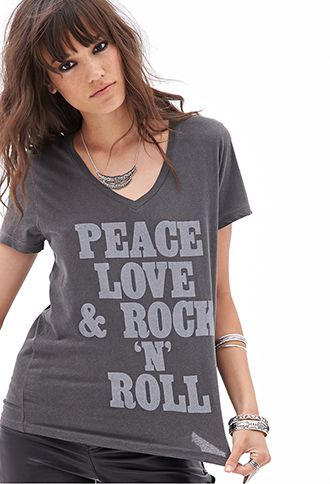 4bc73bb2e Rock N Roll Tee FOREVER 21-$15.80 | Favorite Bands and Music Stuff ...