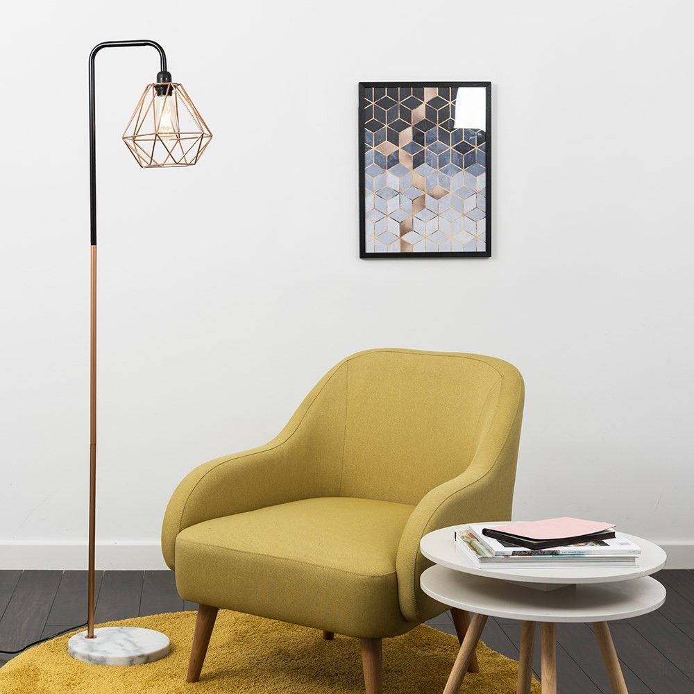 Talisman Black And Copper Floor Lamp With White Marble Base And Copper Diablo Shade Whitemarbleflooring Talisman Black And Copper Tischplatten Einrichtung Led