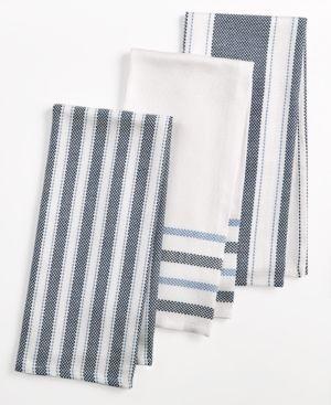 Martha Stewart Collection 3-Pc. Basket Weave Kitchen Towels, Created