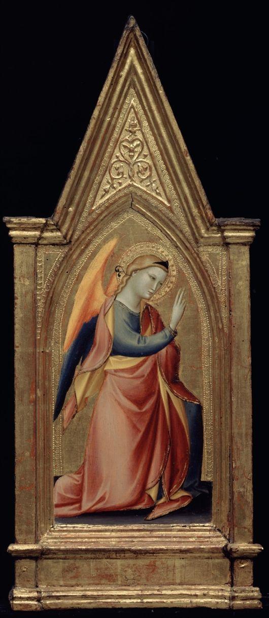 Giovanni del Biondo - Angelo Annunciante  - oro e tempera su tavola - XIV sec. - Detroit Institute of Arts