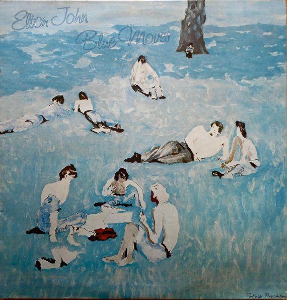 ELTON JOHN Blue Moves 1976 Uk Issue Vinyl 2 X Lp 33 Album Record Classic Pop Rock 70s prid2 Free s&h