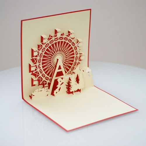 Popup Card Carnival Card Paper Pop Beautiful Handmade Cards