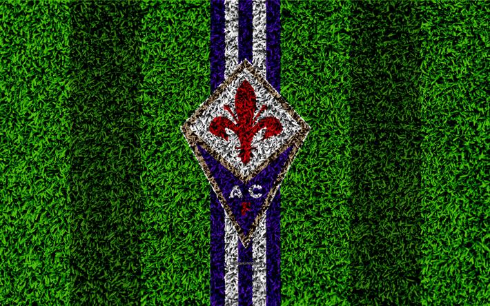 Descargar fondos de pantalla Fiorentina FC, 4k, logotipo, fútbol de ...