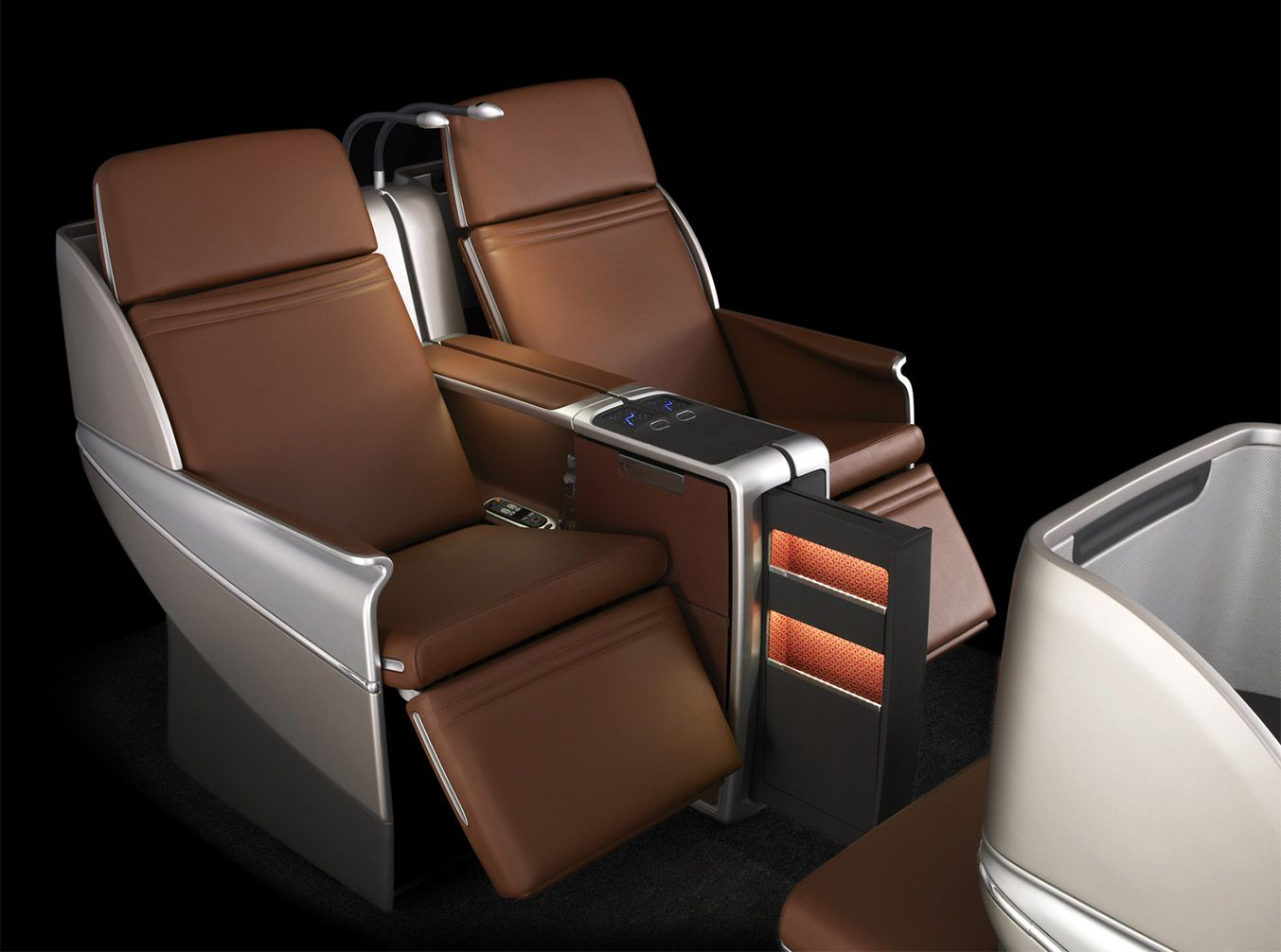 The 'Aura' business class seat is one of Boeing's most