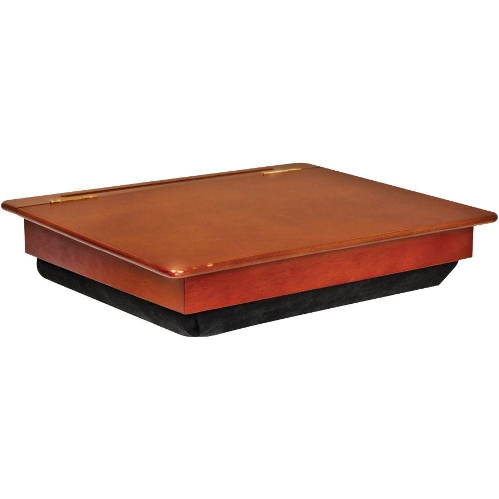 Wooden Laptop Desk W Storage Lapdesk Computer Holder Station Cushion Pad  Wood #Lapgear