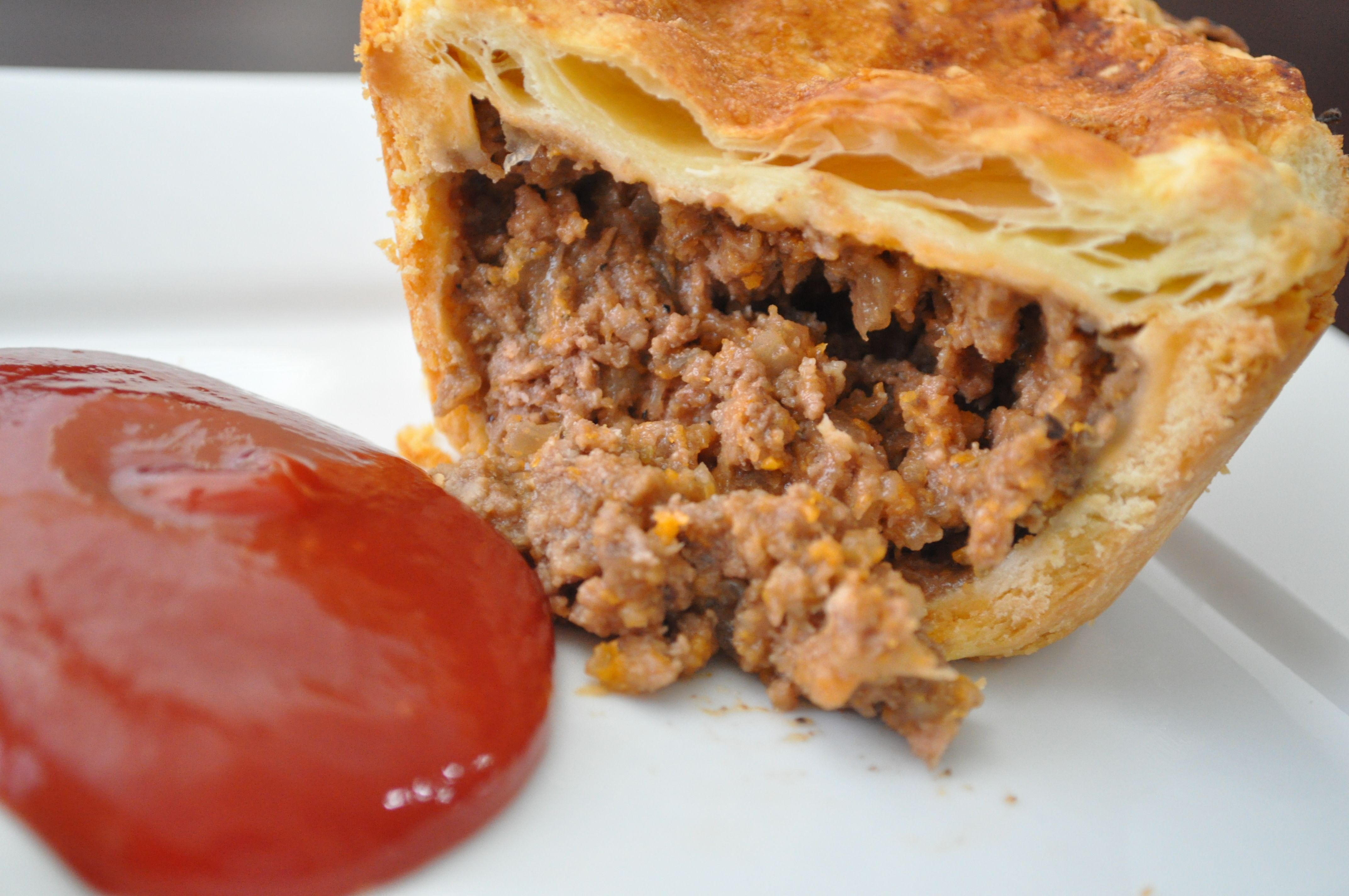 Australian meat pie--made this in a pie plate with ready-made Trader Joe crust and used ground turkey/chicken boullion (paste to water)--family liked it & Canu0027t wait to try this one... scrumptious Aussie meat pie ...