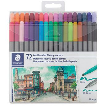 Save On Discount Staedtler Duo Tip Markers Set Of 72 More At