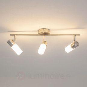 Plafonnier LED Tamia  3 lampes de couleur nickel