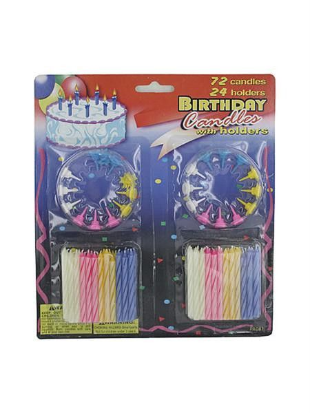 Birthday Candles With Holders Set Available In A Pack Of 18
