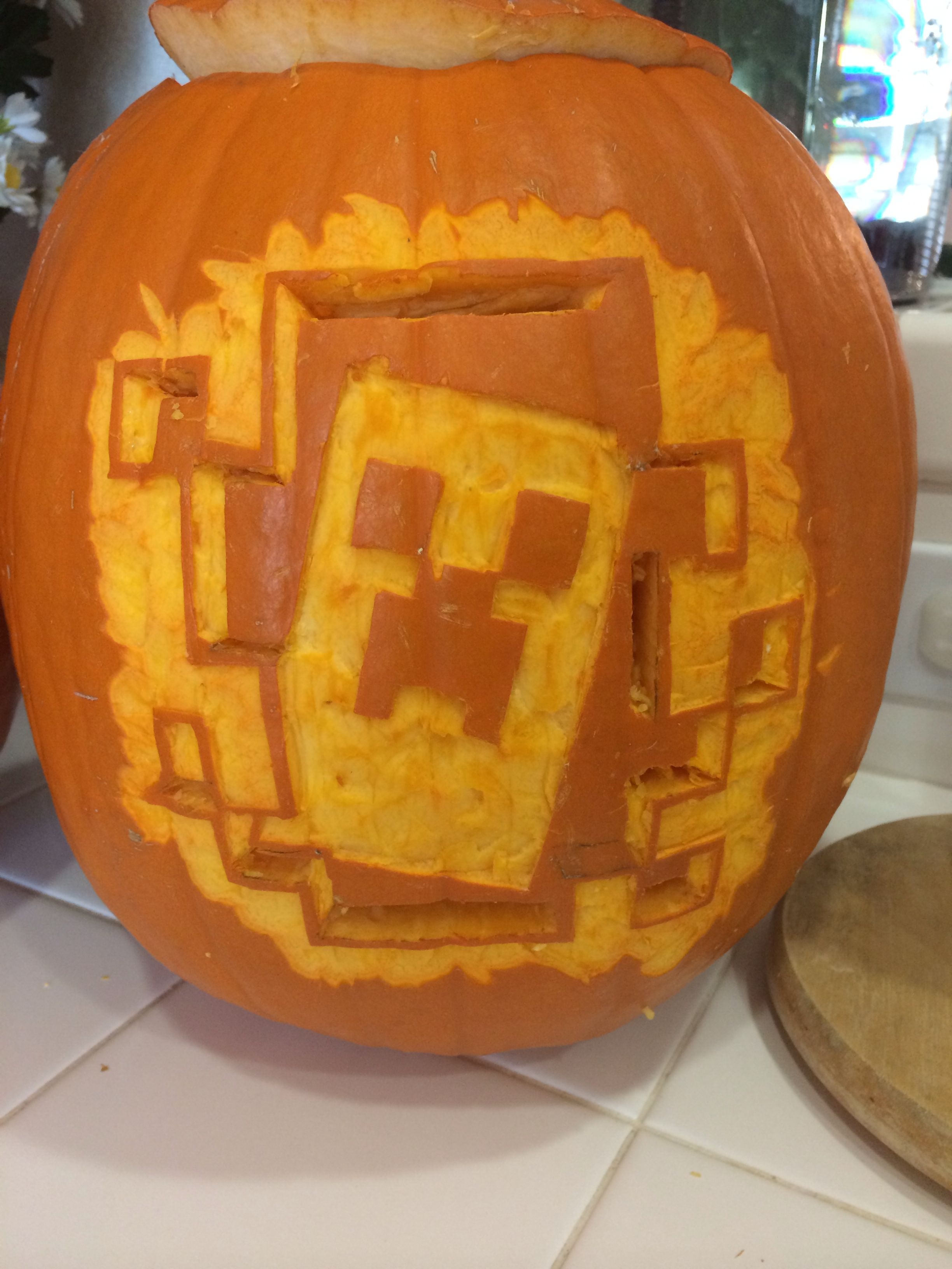 Minecraft pumpkin carving by brandi green pumpkins and