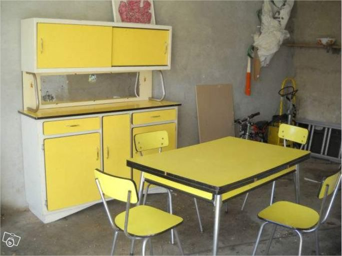 Cuisine vintage jaune formica d co vintage pinterest for Photo cuisine retro