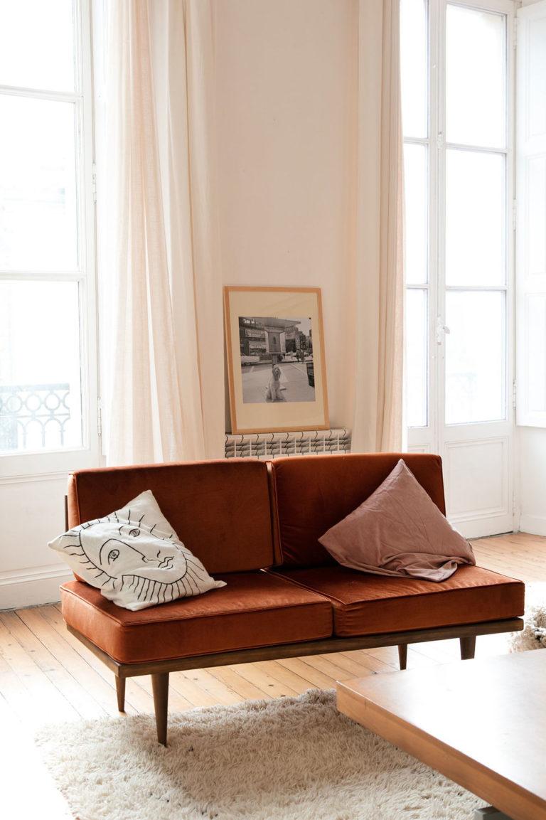 Best Burnt Orange Leather Mid Century Modern Sofa Leathersofa 400 x 300