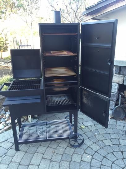 Rivergrille Rustler 40 In Vertical Smoker And Grill Sc2185601 Rg At The Home Depot Mobile