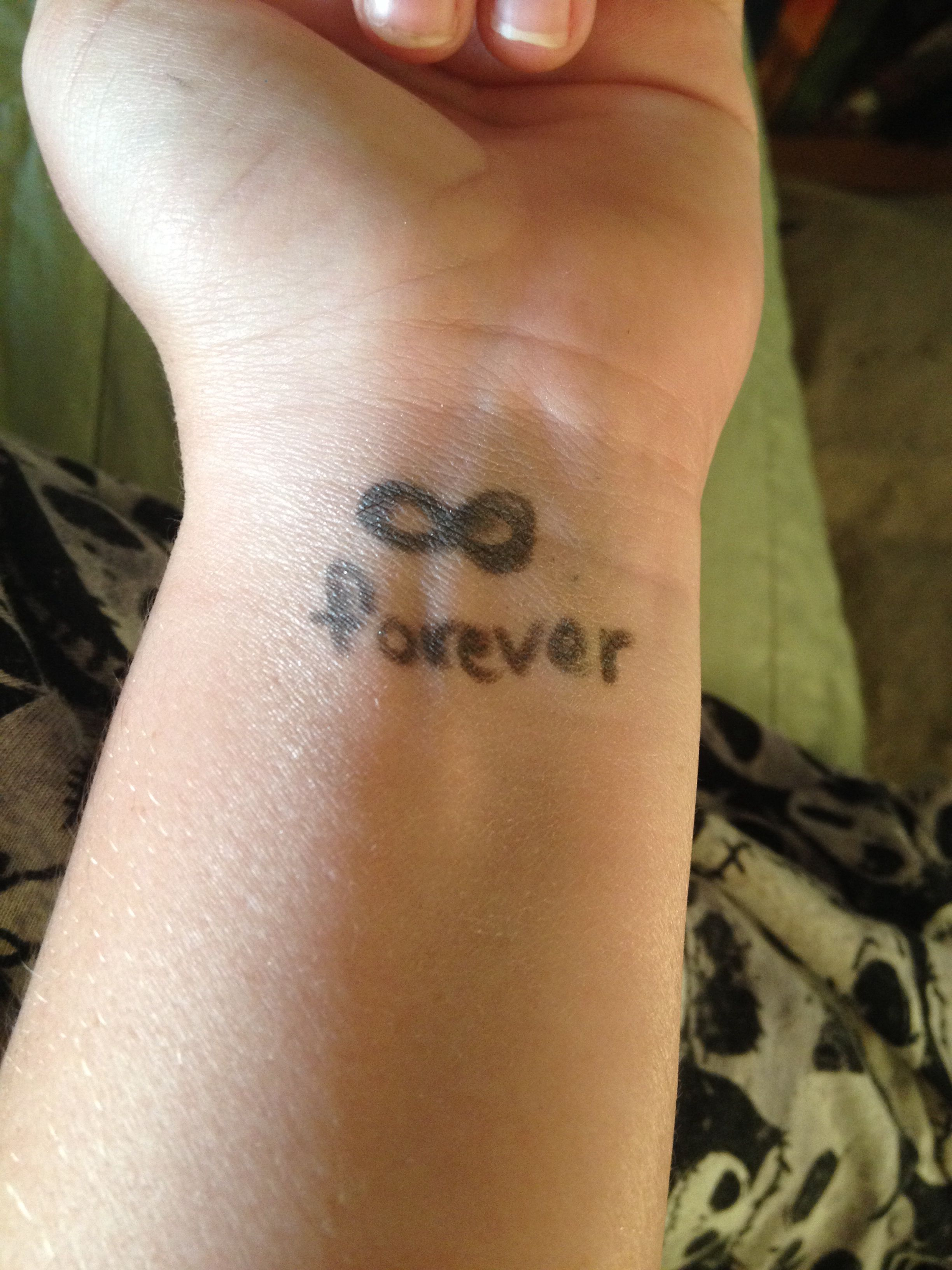 Temporary tattoos. Need hairspray Foundation powder