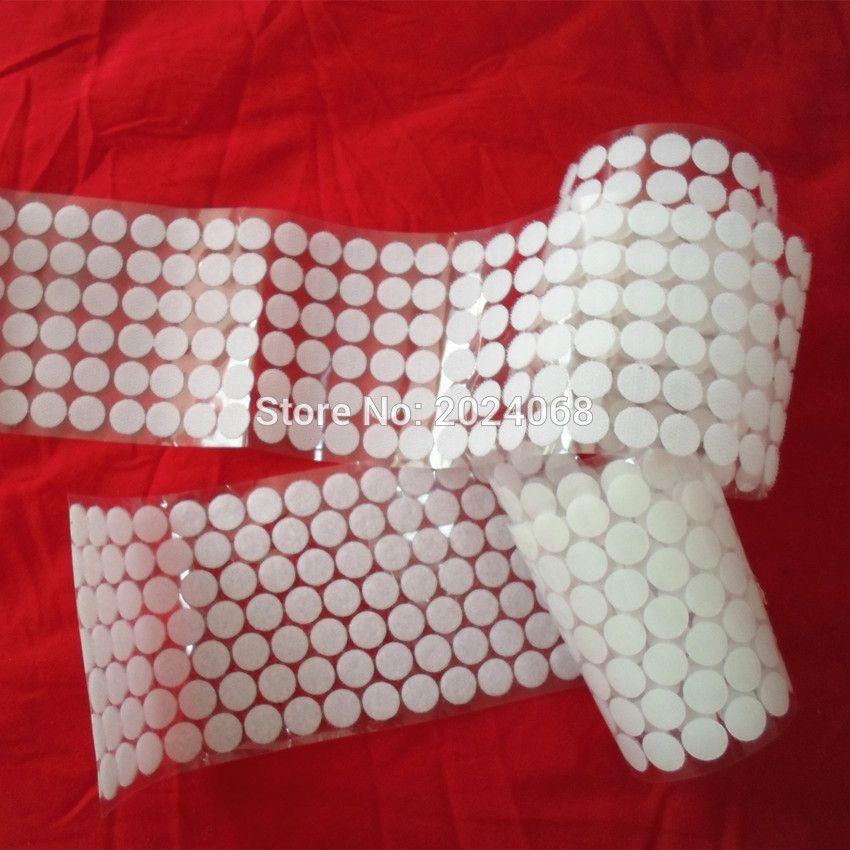 15 MM 56 Pairs DIY magia de la moneda de Nylon etiqueta adhesiva de doble cara ganchos Loops discos blanco Pads ronda Dot cinta de sujeción de costura