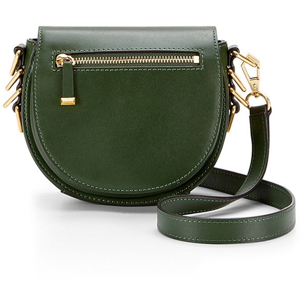 Al Rebecca Minkoff Handbags Small Astor Saddle Bag 35 Liked On Polyvore Featuring Bags Shoulder Purses Green Leather Man