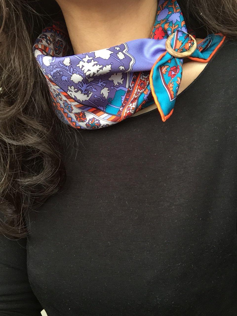 Herm s gavroche majestic tee silk scarfs pinterest - Hermes tuch binden ...