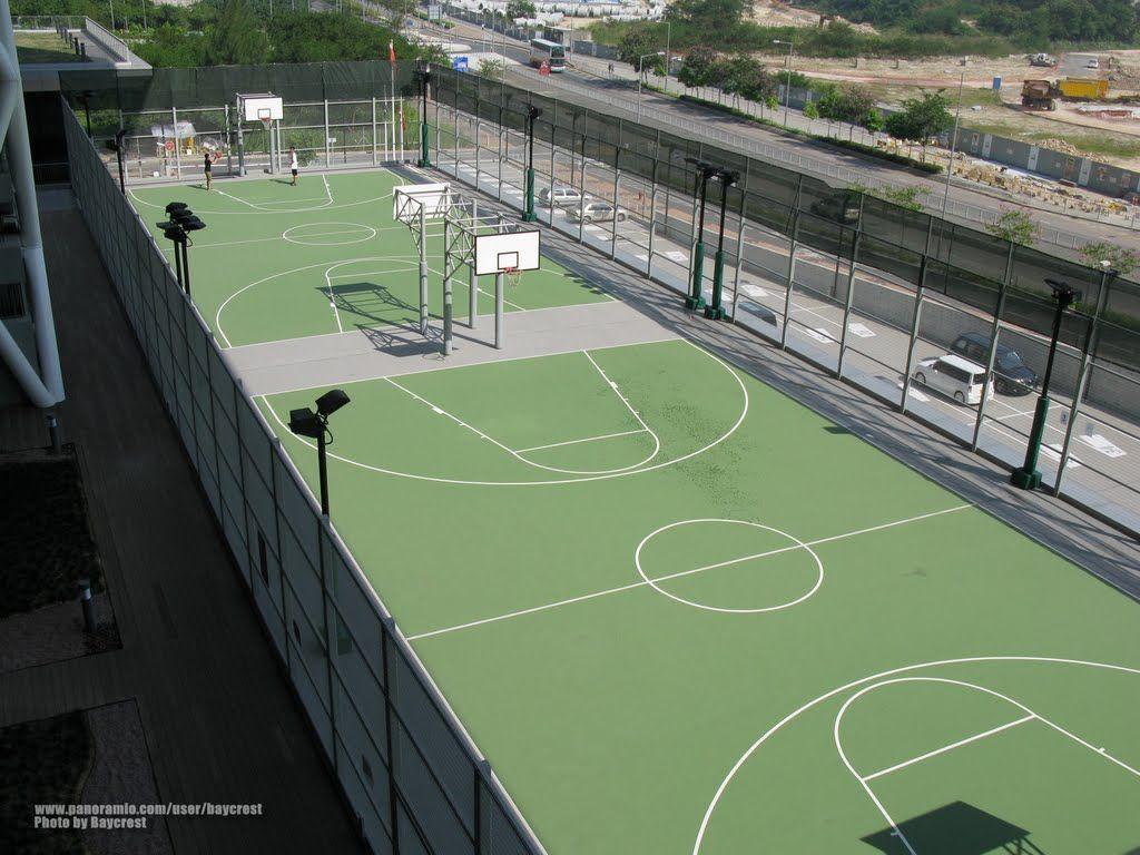 香港知專設計學院 半公眾籃球場 Partially public basketball court, Hong ...