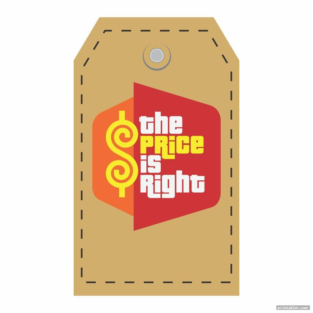 31+ Price is right tag printable inspirations