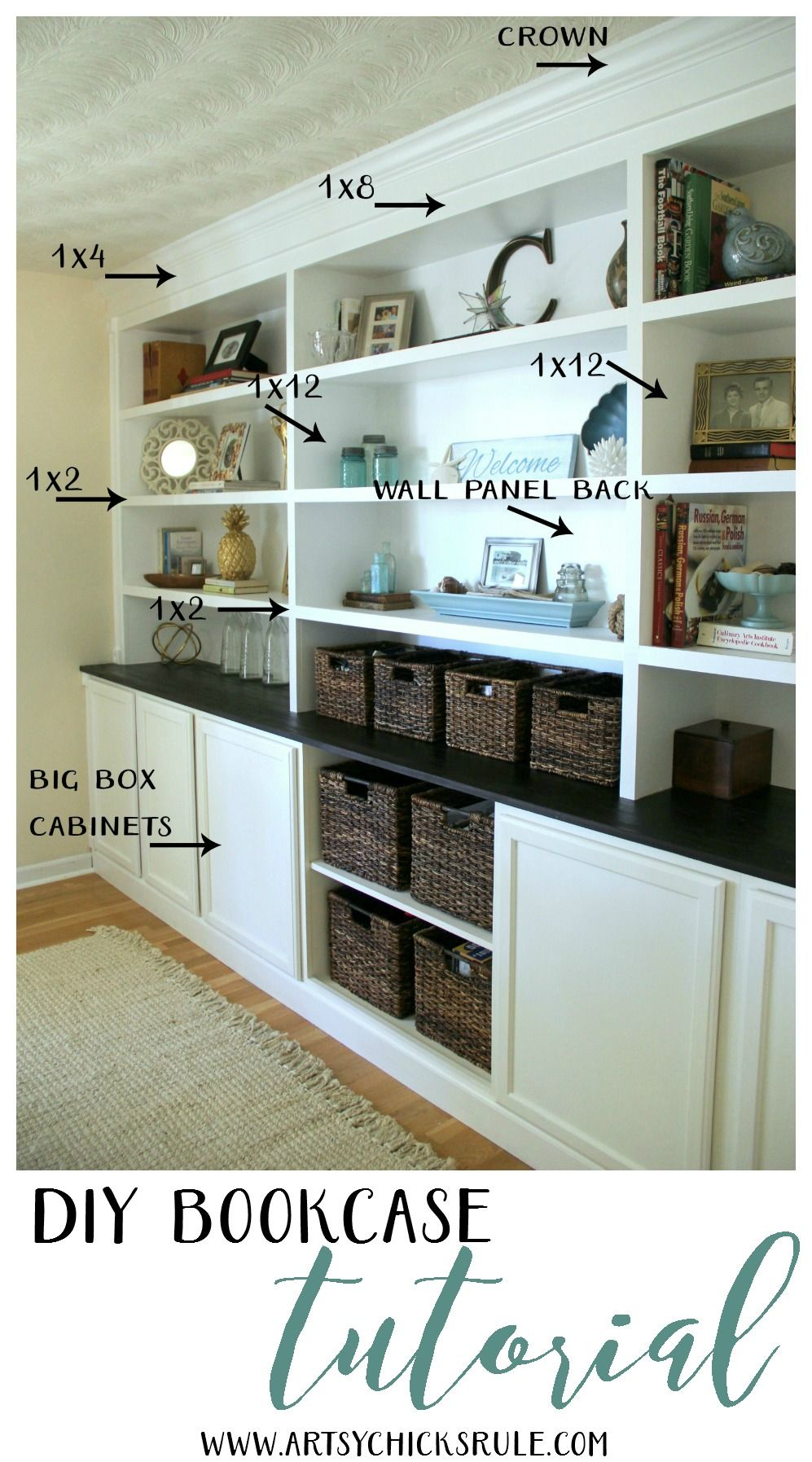 ravishing better homes and gardens bookcase. DIY Bookcase Tutorial  built in all the details Artsy Chicks Rule Diy bookcases