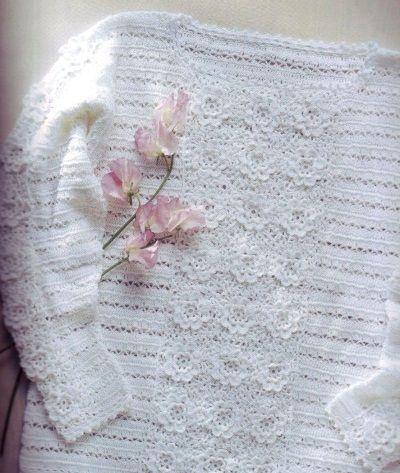 Пуловер с цветочным узором 2
