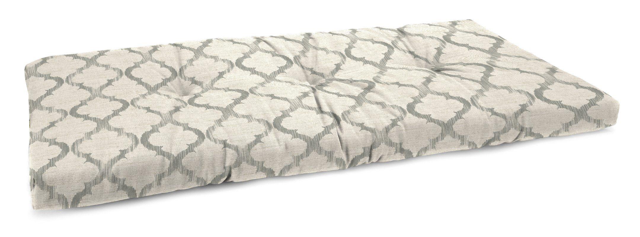 Tufted Linen Indoor Bench Cushion   Sunroom ideas   Pinterest ...