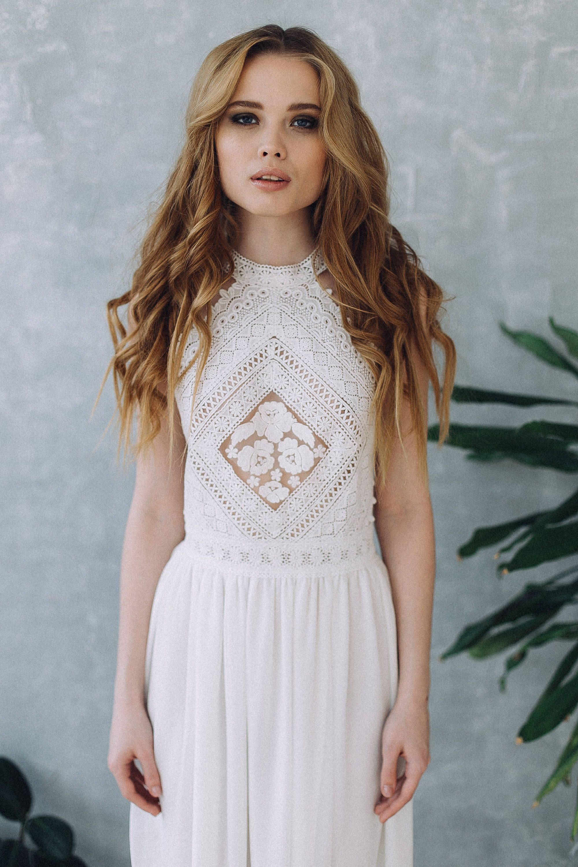 Dress ss wedding dress boho wedding dress romantic wedding dress