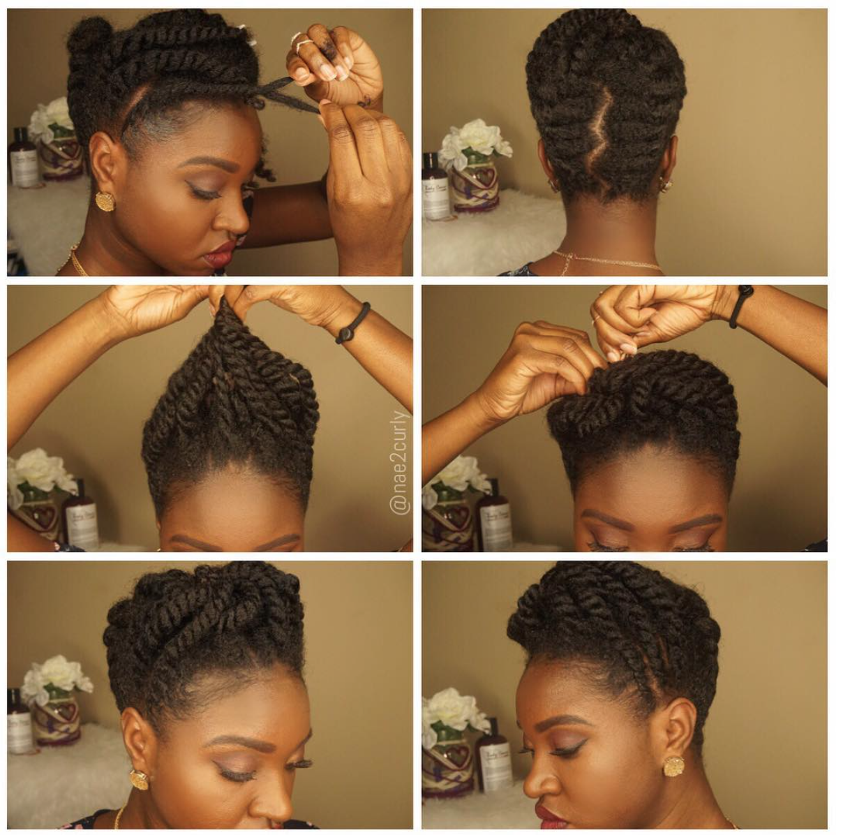 Flat Twist Updo Flat Twist Updo Natural Hair Updo