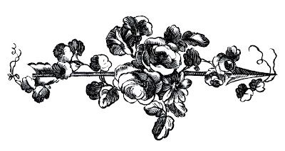 Antique Engravings - French Roses with Arrows - The Graphics Fairy
